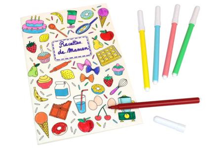 Carnet de recettes à colorier - Supports de Coloriages – 10doigts.fr