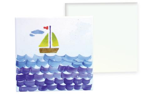 Carreau en porcelaine à décorer - Supports en Céramique et Terre Cuite – 10doigts.fr