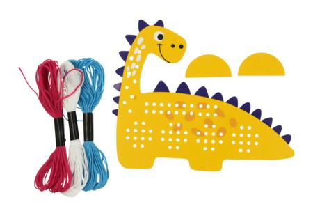 Carte Dinosaure à tisser - Kits Mercerie – 10doigts.fr