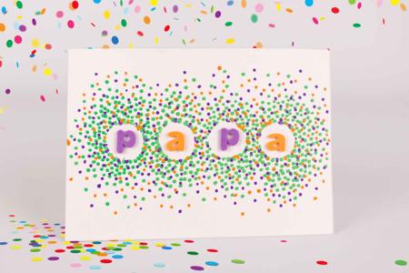 Carte PAPA confettis - Tutos Fête des Pères – 10doigts.fr