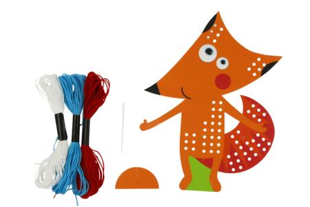 Carte Renard à tisser - Kits Mercerie – 10doigts.fr
