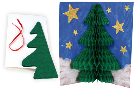 Carte sapin pop-up 3D - Carterie – 10doigts.fr