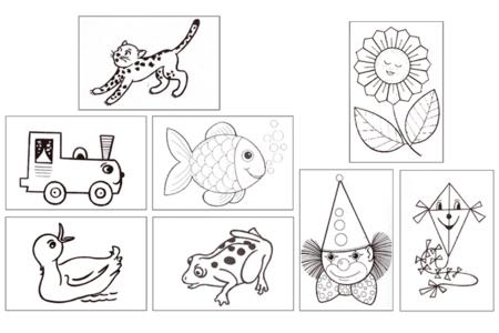 Cartes postales à colorier et à broder - Carterie – 10doigts.fr