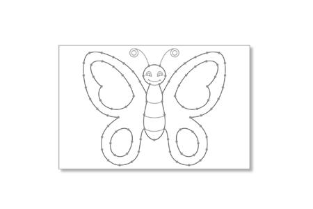 Cartes à broder et à colorier - 7 cartes assorties - Supports à broder – 10doigts.fr