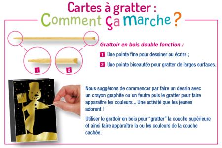 Cartes à gratter Or & argent - 4 cartes - Carte à gratter – 10doigts.fr