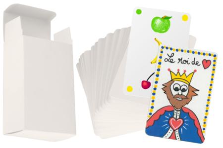 Jeu de 60 cartes et sa boite à customiser - Supports blancs – 10doigts.fr