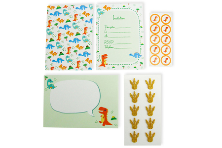 Kit invitations Dinosaure - 10 invitations d'anniversaire - Anniversaires – 10doigts.fr