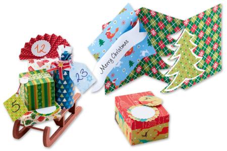 Cartes fortes motifs de Noël - Set de 20 - Décorations Noël – 10doigts.fr