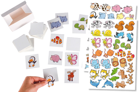 Jeu memory à customiser - 60 cartes + boite - Kits activités jeux à fabriquer – 10doigts.fr