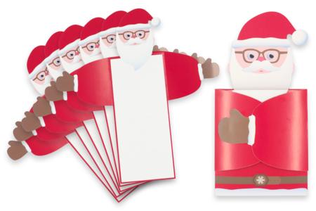 """Cartes de vœux Père-Noël """"câlin"""" - Lot de 6 - Carterie – 10doigts.fr"""