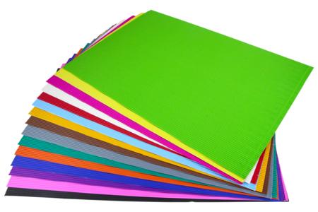 Carton ondulé 35 x 50 cm - 15 feuilles - Carton ondulé – 10doigts.fr