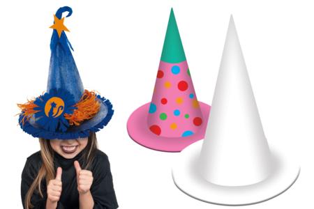 Chapeau de magicien, de sorcier ou de princesse - Lot de 10 - Mardi gras, carnaval – 10doigts.fr