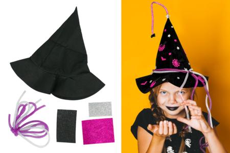 Kit chapeau de sorcière en feutrine - Halloween – 10doigts.fr