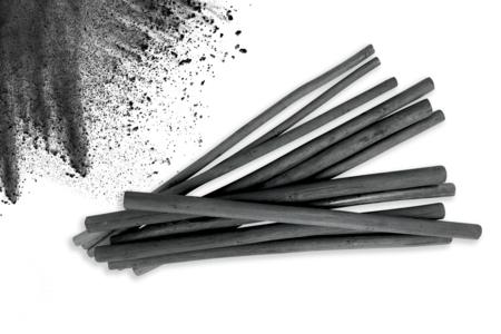 Bâtonnets de charbon de bois de saule - Set de 12 - Pastels et Fusains – 10doigts.fr