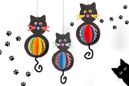 Chats suspendus - Activités enfantines – 10doigts.fr