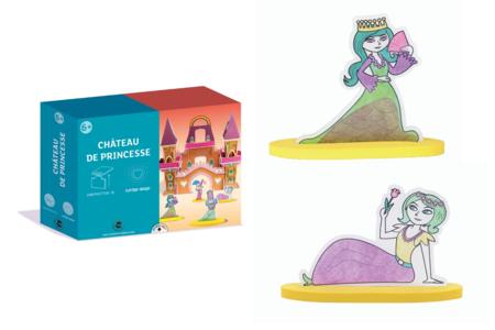 Coffret Château de princesse - Construction et Plastique magique - Coffret de Construction en 3D – 10doigts.fr