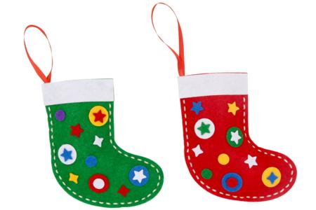 Chaussettes de Noël à broder - Kit pour 4 réalisations - Kits d'activités Noël – 10doigts.fr
