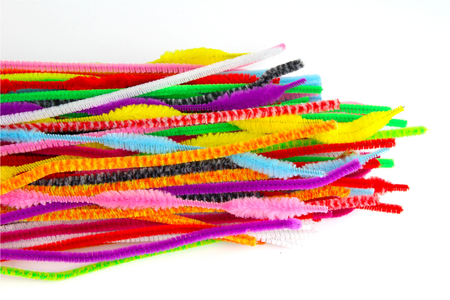 Méga mix chenilles couleurs assorties - 400 pièces - Chenilles, cure-pipe – 10doigts.fr