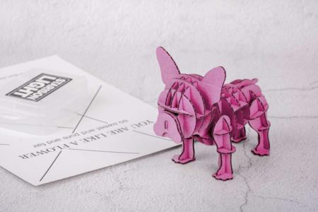 Bulldog en carton à assembler - Maquettes en carton – 10doigts.fr