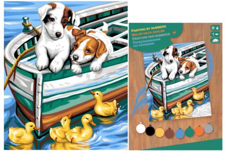 Tableau peinture aux Numéros - Chios - Peinture par numéros – 10doigts.fr