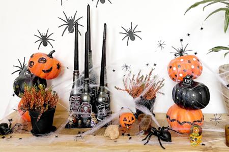 Grande citrouille en polystyrène (2 parties emboitables à coller) - Halloween – 10doigts.fr
