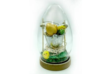 Oeuf cloche - 19,5 cm - Plastique Transparent – 10doigts.fr