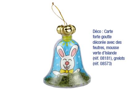 Cloche en plastique à suspendre - Formes à garnir – 10doigts.fr