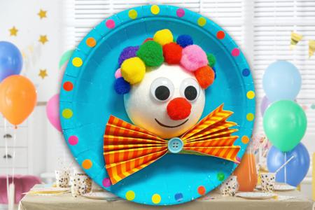 Tableau clown en 3D - Activités enfantines – 10doigts.fr
