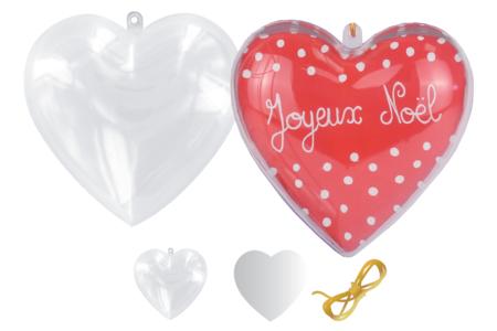 Cœur 3 en 1 à suspendre - Lot de 10 - Formes à garnir – 10doigts.fr