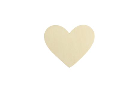 Coeur en bois naturel - Lot de 10 - Motifs brut – 10doigts.fr