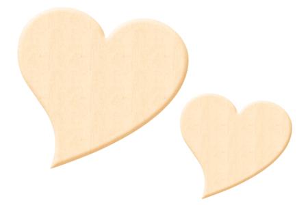 Coeur fantaisie en bois naturel - Taille au choix - Motifs bruts – 10doigts.fr