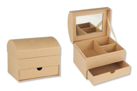 Coffre à bijoux en carton - Supports Bureau en carton – 10doigts.fr