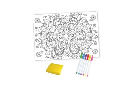 Coffret Mandala - Coloriage Magique Effaçable - Support pré-dessiné – 10doigts.fr