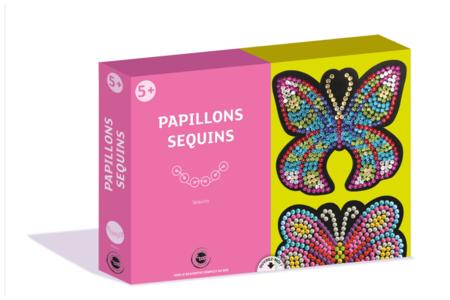Coffret Sequin - 2 Papillons - Coffret Piquage de Sequins – 10doigts.fr