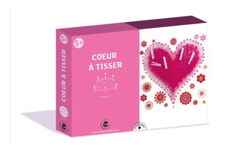 Coffret coeur à tisser - Activité String Art - Coffret String Art – 10doigts.fr