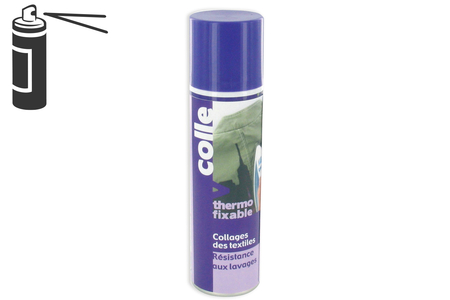Colle thermofixable - 250 ml - Colles en aérosol – 10doigts.fr
