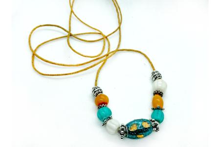 Perles artisanales Bollywood - 10 perles - Bijoux Bohème – 10doigts.fr