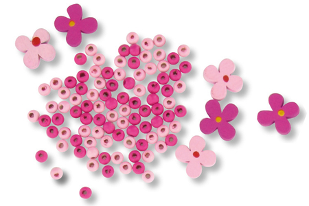 """Parure bijoux  bracelet et collier """"Fleurs"""" - Kit pour 1 parure - Kits bijoux – 10doigts.fr"""