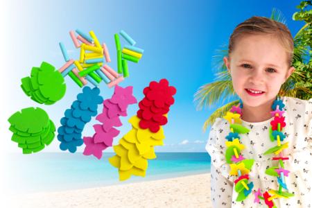 Colliers hawaiens en caoutchouc mousse - Tutos Carnaval – 10doigts.fr