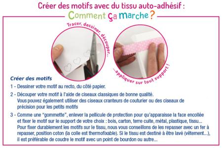 Tissu adhésif vichy fuchsia - Tissus adhésifs – 10doigts.fr