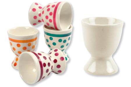 Coquetiers en porcelaine blanche - Déco de la maison – 10doigts.fr