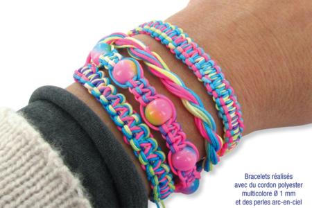 Confectionner des bracelets Shamballa multicolores - Bijoux Shamballas – 10doigts.fr