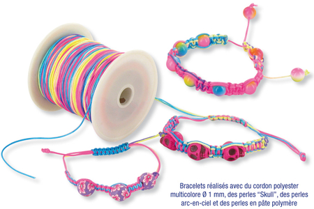 Cordon queue de rat multicolore - 100 m - Fils – 10doigts.fr