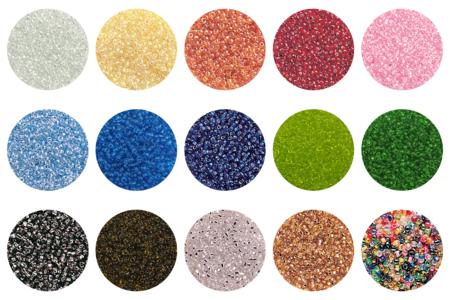Perles de rocaille couleurs translucides et lumineuses - 9000 perles - Perles de rocaille – 10doigts.fr