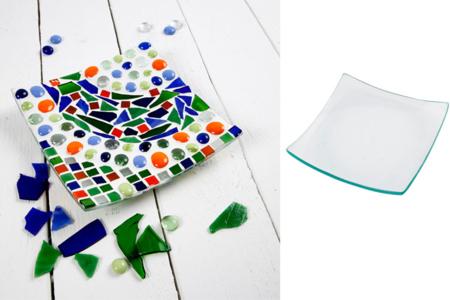 Coupelles carrées incurvées en verre - Lot de 12 - Supports en Verre – 10doigts.fr