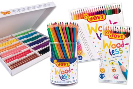 Crayons de couleur sans bois Jovi - Crayons de couleurs – 10doigts.fr