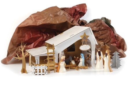 Créche de Noël à fabriquer - Supports de fêtes en carton – 10doigts.fr
