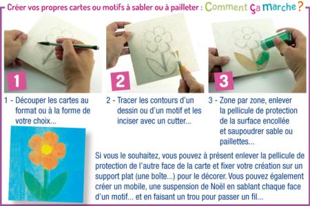 Créer une carte sable - Cartes à gratter, cartes à sabler - 10doigts.fr