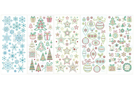 Stickers cristal Noël - 160 stickers - Stickers strass, cabochons – 10doigts.fr