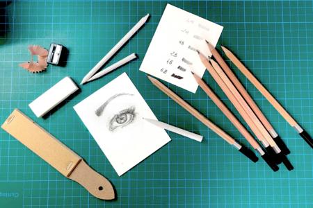 Kit dessin et esquisse - 12 pièces - Pastels et Fusains – 10doigts.fr